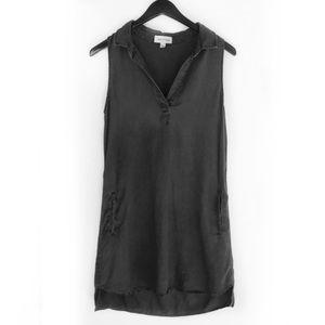 Cloth & Stone Grey Sleeveless chambray Tunic Dress